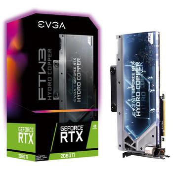 EVGA GeForce RTX 2080 Ti FTW3 ULTRA HYDRO COPPER GAMING, 11G-P4-2489-KR, 11GB GDDR6, RGB LED, iCX2 Technology, Metal Backplate