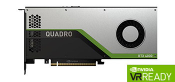 Leadtek Quadro RTX4000 Work Station Graphic Card PCIE 8GB GDDR6 3H (DP) VirtualLink (1) 1x Fan, ATX