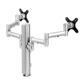 Atdec 400mm Post with 2 x 460mm Monitor Arms - Silver (4640F-S)