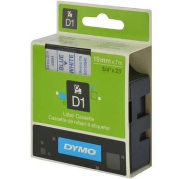 Dymo D1 Blue on Wht 19mmx7m Tape