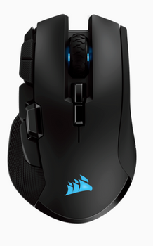 CORSAIR IRONCLAW RGB WIRELESS, Rechargeable Gaming Mouse with SLISPSTREAM WIRELESS Technology, Black, Backlit RGB LED, 18000 DPI, Optical
