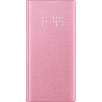 Note 10 LED View cover Pink
