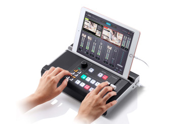 UC9020 StreamLIVE HD is a portable, all-in-one, multi-channel audio/video mixer device