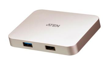 USB-C 4K Ultra Mini Dock with Power Pass-through (60 watts), Connectors: 1xUSB-C DC-in, 1xUSB-C, 1xUSB 2.0 Type A, 1xUSB 3.2 Gen 1 Type A, 1xHDMI