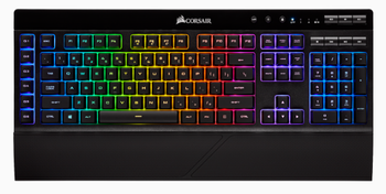 CORSAIR K57 RGB WIRELESS Gaming Keyboard with SLIPSTREAM WIRELESS Technology, Backlit RGB LED, Black