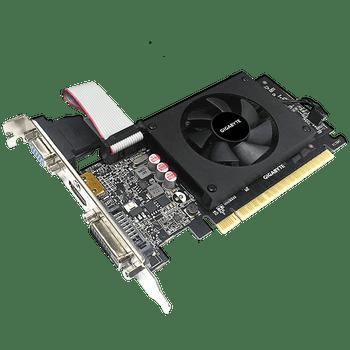 NVIDIA, GT 710, D5, 954MHz, 2GB GDDR5, 1xHDMI, 1xDVI, 1xD-Sub, Low Profile, 1xFan, 300W, 3 Years Warranty