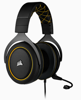 CORSAIR HS60 PRO SURROUND Gaming Headset, Yellow