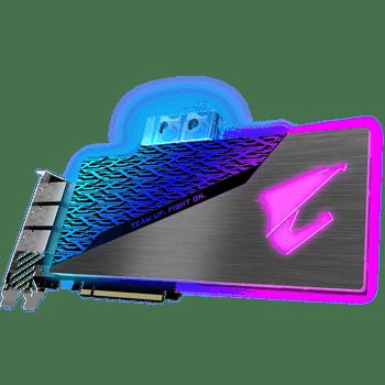 NVIDIA, RTX 2080 SUPER, AORUS WATERFORCE WB, 1860MHz, 8GB GDDR6, 3xDP, 3xHDMI, 1xType-C, ATX, Water Block Cooling (RGB), 650W, 3 Years Warranty