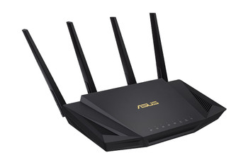 ASUS RT-AX3000U AX3000 Dual-band Gigabit Router, 802.11ax Wi-Fi standard supporting MU-MIMO and OFDMA technology, DFS channels supported, AiProtection