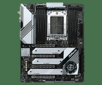 AMD TRX40; 256GB, 8x DDR4; 4x PCI Express 4.0; 2x USB 3.2 Type-A, USB 3.2 Type-C, 4x USB 3.2 Gen1; 8x SATA3 6 Gb/s, 2x Hyper M.2 Sockets (M2 1&M2 2),H