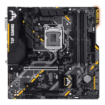 ASUS Intel LGA 1151 mATX gaming motherboard with Aura Sync RGB LED lighting, DDR4 2666MHz support, 32Gbps M.2, Intel Optane memory ready