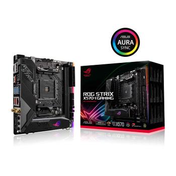 ASUS AMD X570 mini-ITX Gaming motherboard with PCIe 4.0, Aura Sync RGB, Intel Gigabit Ethernet, Wi-Fi 6 (802.11ax), M.2 Audio Combo Card