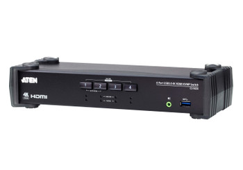 Aten 4 Port USB 3.0 4K HDMI KVMP Switch, Video DynaSync, support HDMI 2.0 4K@60Hz, switching via RS-232, 4 HDMI USB KVM Cables