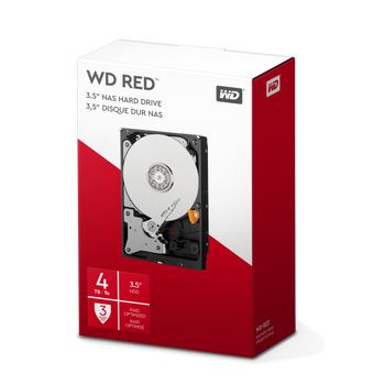 WD RED 4TB, 3.5, SATA 6 Gb/s, 256 MB Cache, 3YR Warrenty