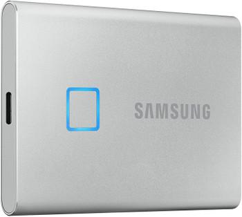 SAMSUNG Portable SSD T7 Touch 2TB SILVER, Fingerprint unlock