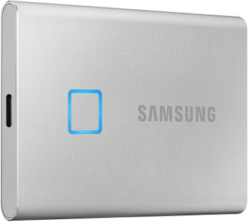 SAMSUNG Portable SSD T7 Touch 500GB SILVER, Fingerprint unlock