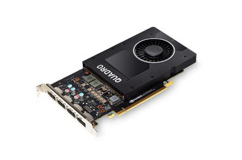 Leadtek Quadro P2000 Work Station Graphics Card PCIE 5GB DDR5, 4H(DP), Single Slot, 1x Fan, ATX