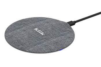 Klik Qi Wireless Fast Charging Pad - Fabric