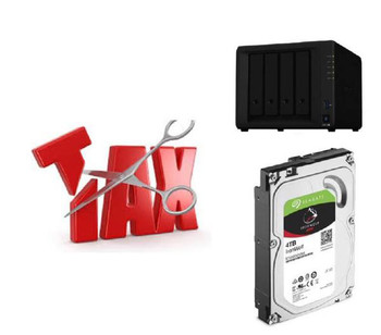 Synology Tax Saver - DS920+ + 4 x Seagate 4TB IronWolf Hard Drives