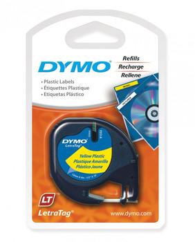 Dymo LetraTag Plastic 12mm x 4m Yellow