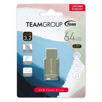 TEAM C201 USB3.2 Morandi Color Flash Drive 64GB