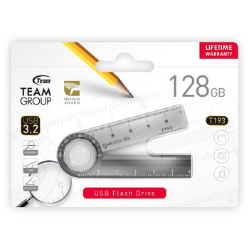 Team 193 USB3.2 Multifunction Flash Drive 128GB, Magnifier, Ruler, Protractor
