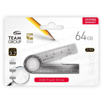 Team 193 USB3.2 Multifunction Flash Drive 64GB, Magnifier, Ruler, Protractor