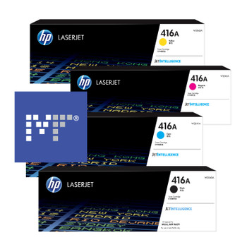 HP 416A toner bundle (includes: W2040A, W2041A, W2042A, W2043A)