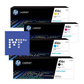 HP 416X toner bundle (includes: W2040X, W2041X, W2042X, W2043X)