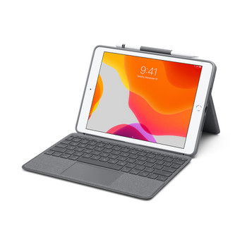 "Logitech iPad Combo Touch for iPad 10.2"" (7th Gen), With Apple Pen Holder, 1yr Wty"
