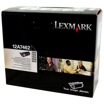 Lexmark 12A7462 Black Prebate Toner Cartridge