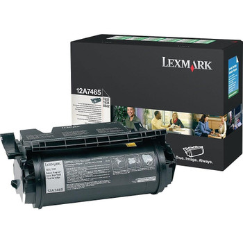 Lexmark 12A7465 Black (Return Program) Toner Cartridge