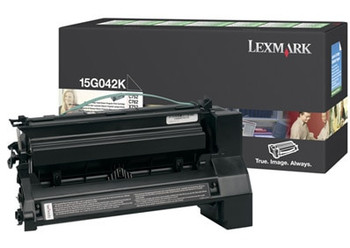 Lexmark 15G042K Black (Prebate) Toner Cartridge 15K for C752, 760, 762