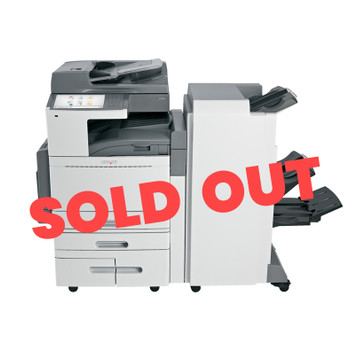 Lexmark X954dhe 55ppm A3 Colour Multifunction Laser Printer + Base + Finisher (Second Hand - Used)