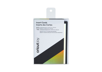 Cricut Joy™ Insert Cards, Black/Silver Holographic (12 cards, 12 inserts, 12 envelopes)