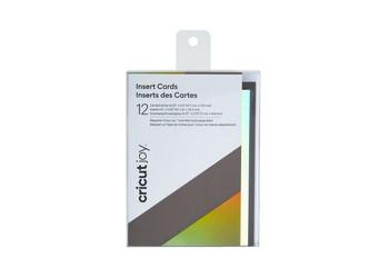 Cricut Joy™ Insert Cards, Grey/Silver Holographic (12 cards, 12 inserts, 12 envelopes)