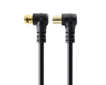 ALOGIC 1.5m Right Angle PAL To Right Angle F-Type TV Antenna Cable - MOQ:7