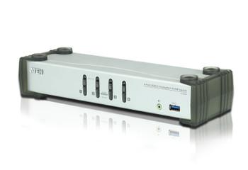 4 Port USB 3.0 4K DisplayPort KVMP Switch Support HDCP, 3840 x 2160 @ 30Hz, DP 1.1, Mouse emulation, Keyboard emulation - [ OLD SKU: CS-1914 ]