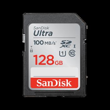 SanDisk Ultra SDHC, SDUNR 128GB, C10, UHS-I, 100MB/s R, 4x6, 10Y