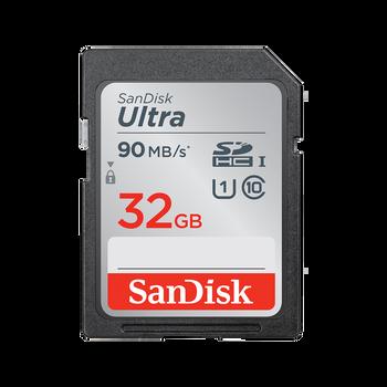 SanDisk Ultra SDHC, SDUNR 32GB, C10, UHS-I, 90MB/s R, 4x6, 10Y - MOQ:5