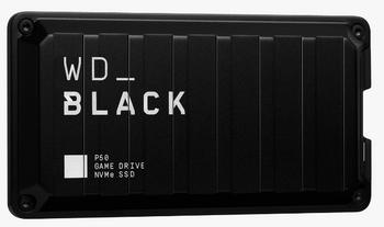 WD Black P50 Game Drive SSD, 500GB, Read speeds 2000MBs, USB 3.2 Gen, 5Y
