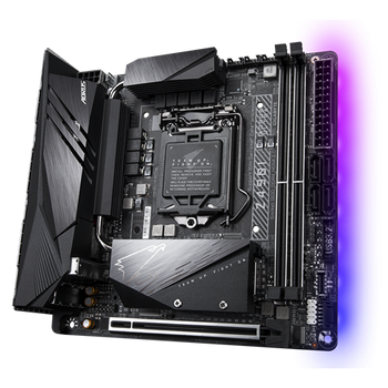 INTEL,Z490Mini-ITXAORUS MBwDirect8PhaseDigitalVRM Dsgn, AdvancedThermalSolution,WIFI6,802.11ax,INT2.5GbE LAN,HDMI and RGB FUSION 2.0