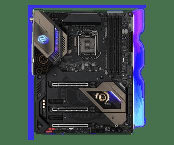 Intel Z490; ATX; 4 DIMM; PCIe x16: 3 (x16, x8, x4), PCIe x1: 2, 3 SSD=PCIe Gen3 x4 & SATA3, 1 SSD for RKL,1 WiFi Key E;USB 3.2 Gen1: 9(4 Front,5 Rear)