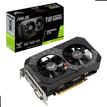 ASUS NVIDIA TUF Gaming GeForce GTX 1660 AUPER OC Edition 6GB GDDR6
