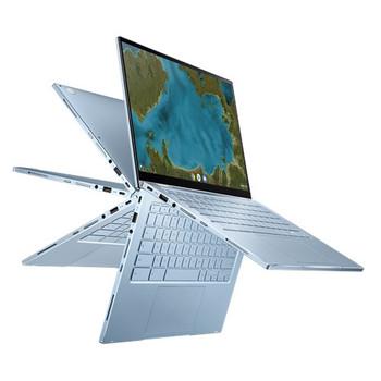 """Asus CHROMEBOOK FLIP, M3-8100Y, CHROME OS, 14.0"""" FHD Touch, 8GB DDR3, 64G eMMC, HD CAM, 1 x USB 3.2, 1 x USB-C, SILVER, 1 YR PUR"""