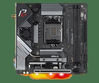 Intel Z490; Mini-ITX; 2 DIMM; 1x PCIe x16; 2  PCIe Gen3 x4 & SATA3,1 WiFi Key E Module; HDMI 2.0, DP, Thunderbolt 3 Type-C