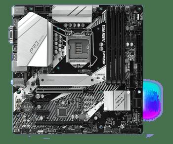 Intel Z490; Micro ATX ; 4 DIMM; 2x PCIe x16 (x16, x4);  2x PCIe x1; 2  PCIe Gen3 x4 & SATA3), 1 WiFi Key E ; HDMI, DP, D-Sub