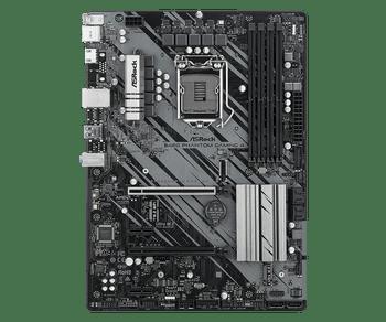 Intel B460; 4 DDR4 DIMM; 2 PCIe 3.0 x16, 2 PCIe 3.0 x1, 1 M.2 WiFi Key E; 6 SATA3, 1 Ultra M.2 (PCIe Gen3 x4 & SATA3); 8 USB 3.2 Gen1 (4Front, 4 Rear)