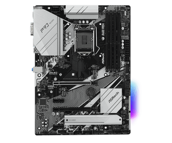 Intel B460; 4 DDR4 DIMM; 2 PCIe 3.0 x16, 2 PCIe 3.0 x1, 1 M.2 WiFi Key E; 6 SATA3, 1 Ultra M.2 (PCIe Gen3 x4 & SATA3), 1 Ultra M.2 (PCIe Gen3 x4)