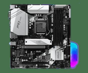 Intel B460; 4 DDR4 DIMM; 2 PCIe 3.0 x16, 1 PCIe 3.0 x1, 1 M.2 WiFi Key E; 6 SATA3, 2 Ultra M.2 (PCIe Gen3 x4 & SATA3); 7 USB 3.2 Gen1; HDMI, D-Sub, DP